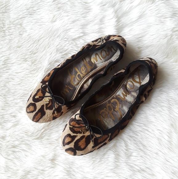 b09db73b18c95c Sam Edelman Calf Hair Felicia Ballet Flat Leopard.  M 5b73991fa5d7c69739eb9fdb